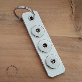 Click sleutel/tashanger wit