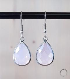 Oorhangers rose opal