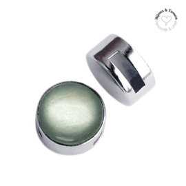 Slider 12 mm shiny Green grey