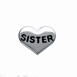 "Memory Locket charm ""Sister"""