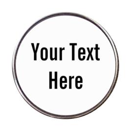 Click met eigen naam of tekst