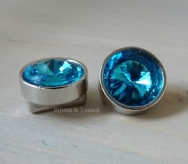 Love Crystal slider 14 mm Capri Blue