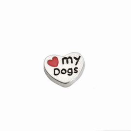 "Memory Locket charm ""Love my dog"""