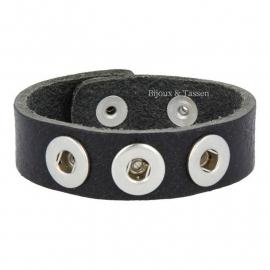 Mini Click armband zwart
