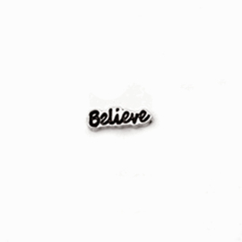"Memory Locket charm ""Believe"""