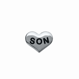 "Floating Locket Charm ""Son"""