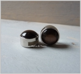 Slider 12 mm Shiny dark brown