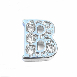Floating Locket Charm letter B