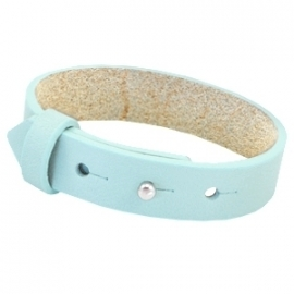 Cuoio armband leer 15 mm Aruba blue
