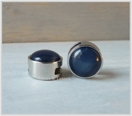 Slider 12 mm Mosso Shiny denim blue