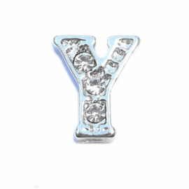 Floating Locket Charm letter Y