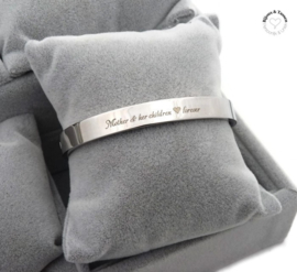 "Stainless steel armband ""Mother & her children ♥ forever"""