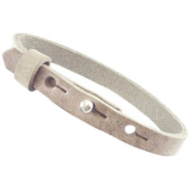 Cuoio armband leer 8 mm Country Grey