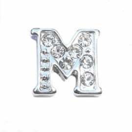 Floating Locket Charm letter M