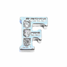 Floating Locket Charm letter F