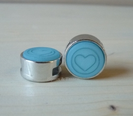 Slider 12 mm hart flat matt Haze blue