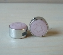 Slider 12 mm ster flat matt Vintage rose