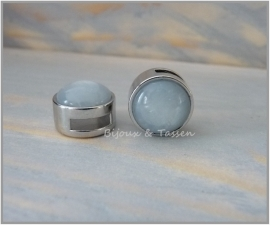 Slider 12 mm shiny silver shade