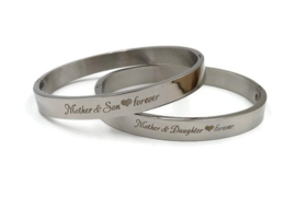 "Stainless steel armband ""Mother & Son ♥ forever"""