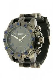 """Ernest heren horloge """"Heavy"""" zwart-blauw"""