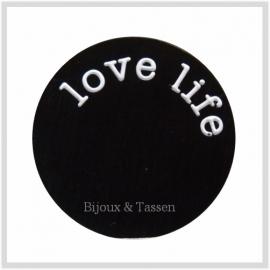 """Munt black """"Love Life"""""""