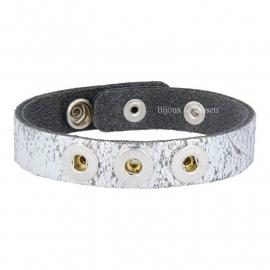 Mini click armband zilver
