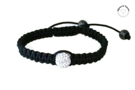 Shamballa armband black pearl