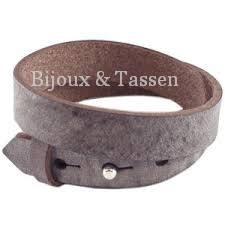 Cuoio armband leer 15 mm dubbel Chocolato bruin