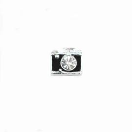"Floating Locket Charm ""Fotocamera"""