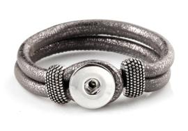 Click armband bruin/grijs