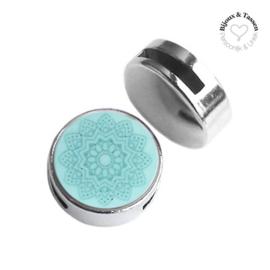 Slider 20mm Mandala matt Haze blue