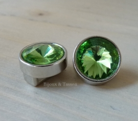 Love Crystal slider 14 mm Green