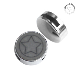 Slider 20mm ster matt Stormy silver grey