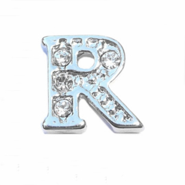 Floating Locket Charm letter R