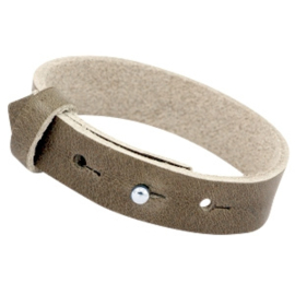 Cuoio armband leer 15 mm Olive brown