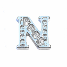 Floating Locket Charm letter N