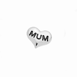 "Floating Locket Charm ""Mum"""