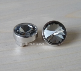 Love Crystal slider 14 mm Black Diamond