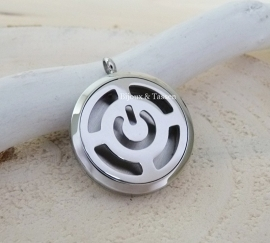"Parfum locket ""Power Button"""