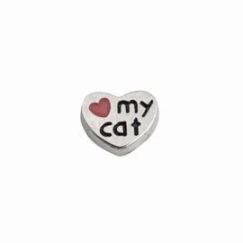 "Memory Locket charm ""Love my Cat"""