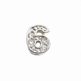 Floating Locket Charm cijfer 6