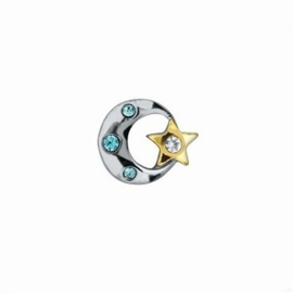 "Memory Locket charm ""Moon & Star"""