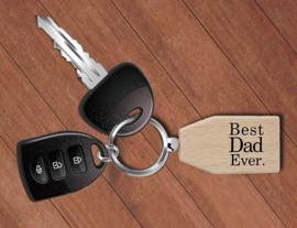 """Sleutelhanger """"Best Dad Ever"""" (optioneel met foto)"""