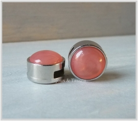 Slider 12 mm Atlante pearl shine Paparacha roze