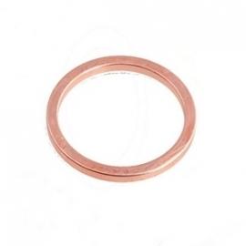 Dichte ring rose goud