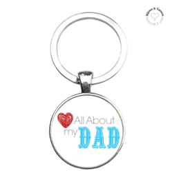 "Sleutelhanger ""Love all about my Dad"""