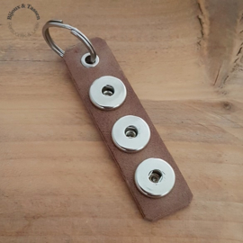 Click sleutel/tashanger bruin