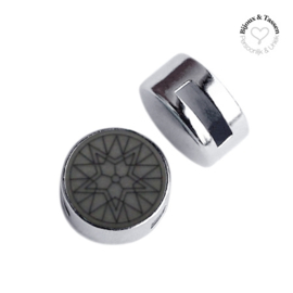 Slider 12 mm Winter star flat matt Silver night