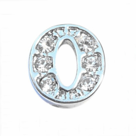 Floating Locket Charm letter O