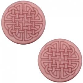 Slider 12 mm Celtic print flat matt Antique pink